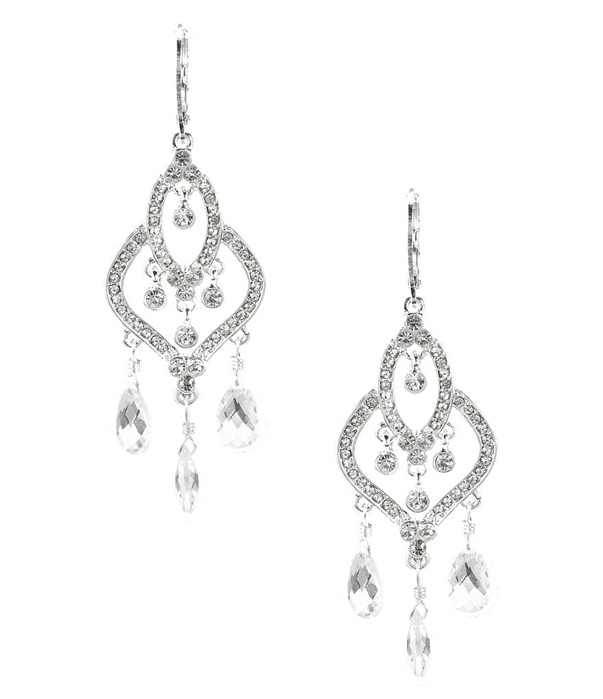 Anne Klein Bling It On Crystal Drop Earrings