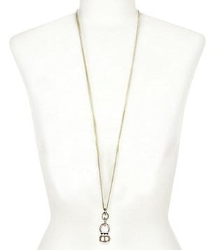 Anne Klein Pearl Diaries Faux-Pearl & Crystal Pendant Necklace