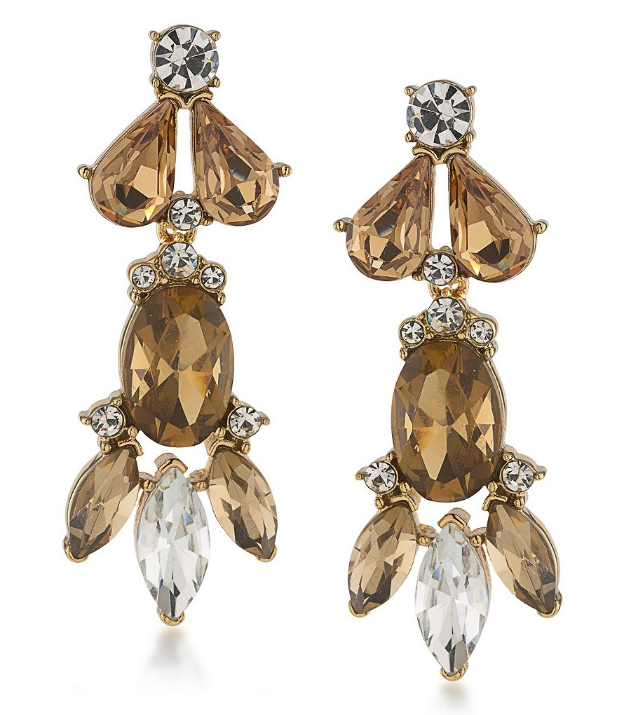 Trina Turk Sparkle & Shine Statement Cluster Drop Earrings