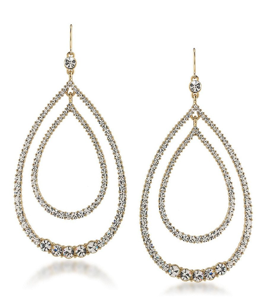 Trina Turk Sparkle & Shine Crystal Teardrop Earrings