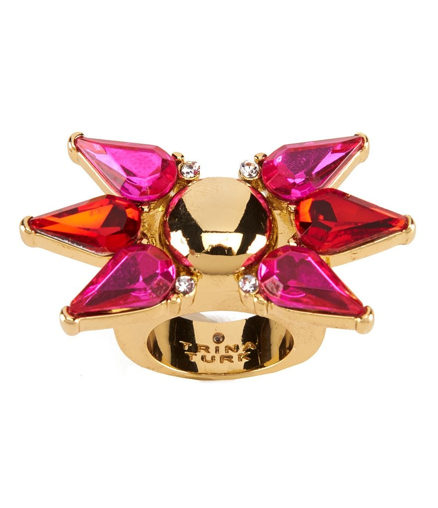 Trina Turk Sparkle and Shine Starburst Cocktail Ring
