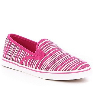Lauren Ralph Lauren Janis Canvas Stripe Slip-On Sneakers