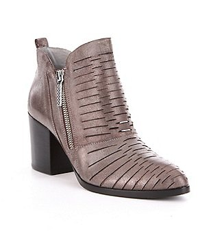 Donald J Pliner Elton Perforated Metallic Booties