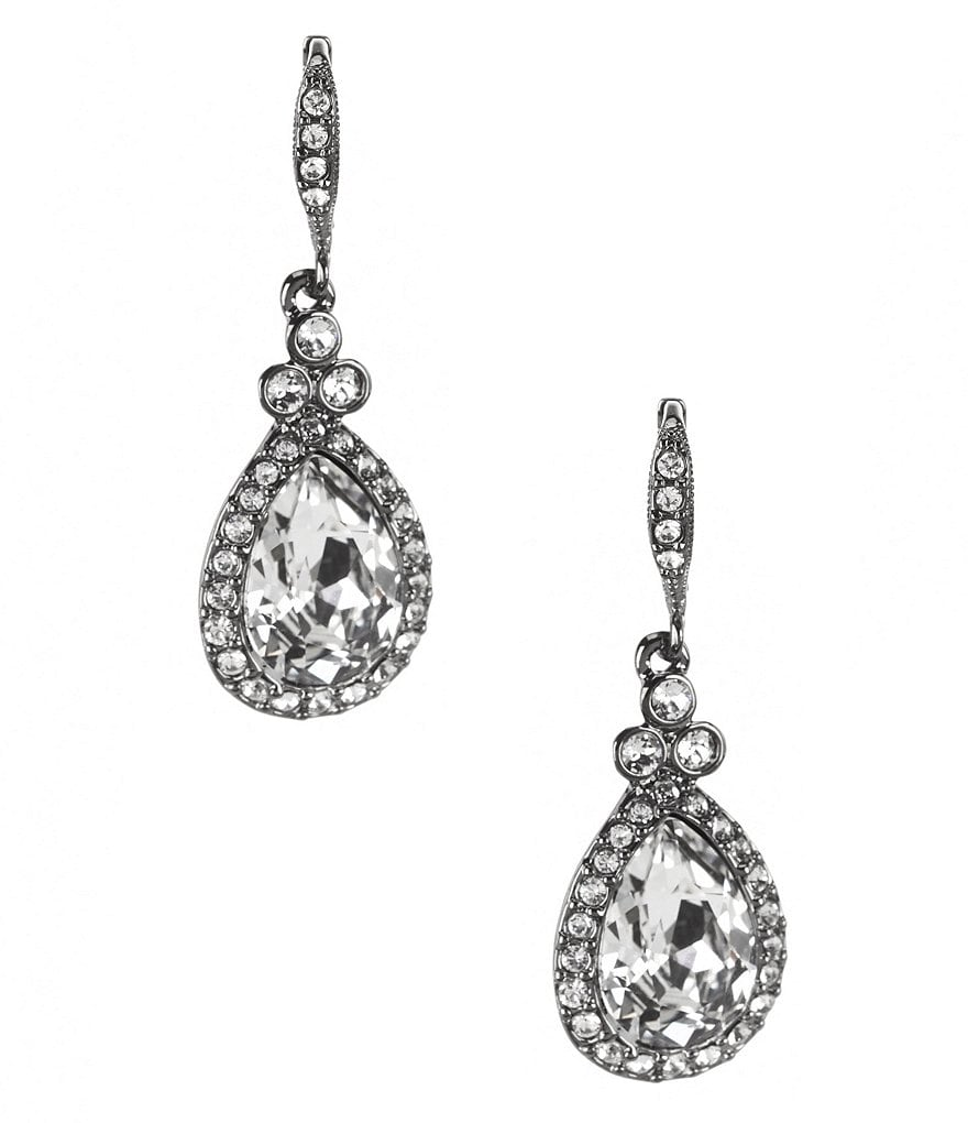 Givenchy Pavé Pear Drop Earrings