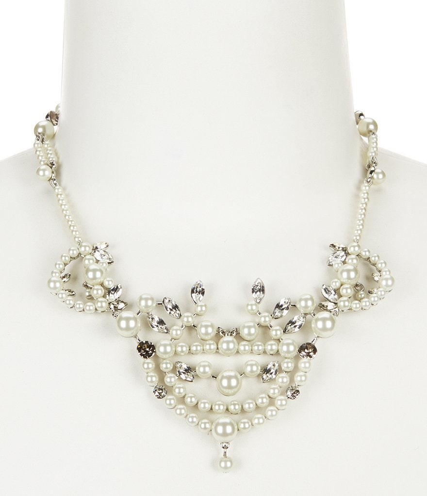Givenchy Esme Pearl & Crystal Collar Necklace