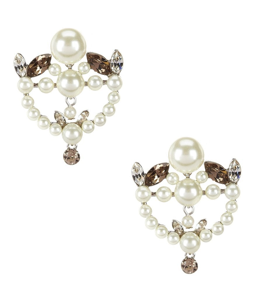 Givenchy Esme Pearl & Crystal Drop Earrings