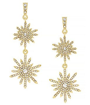 Vince Camuto On Pointe Starburst Double-Drop Earrings