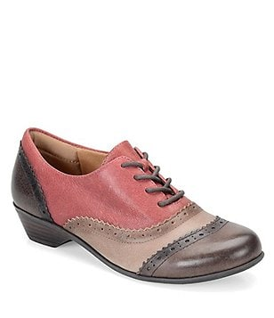 Comfortiva Reddell Leather Lace-Up Oxfords