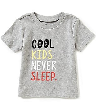 Baby Starters Baby Boys 12-24 Months Cool Kids Never Sleep Graphic Tee