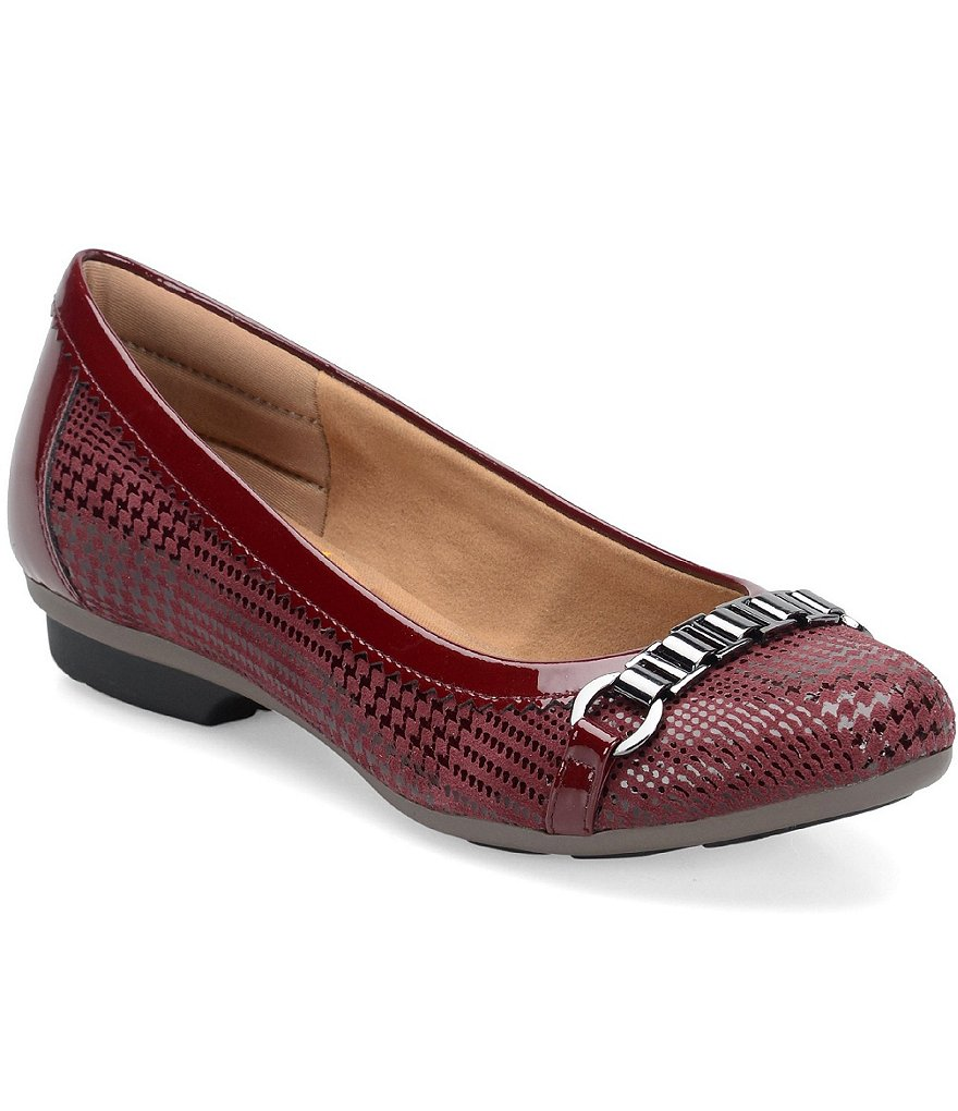 Comfortiva Madeira Houndstooth-Print Suede Flats