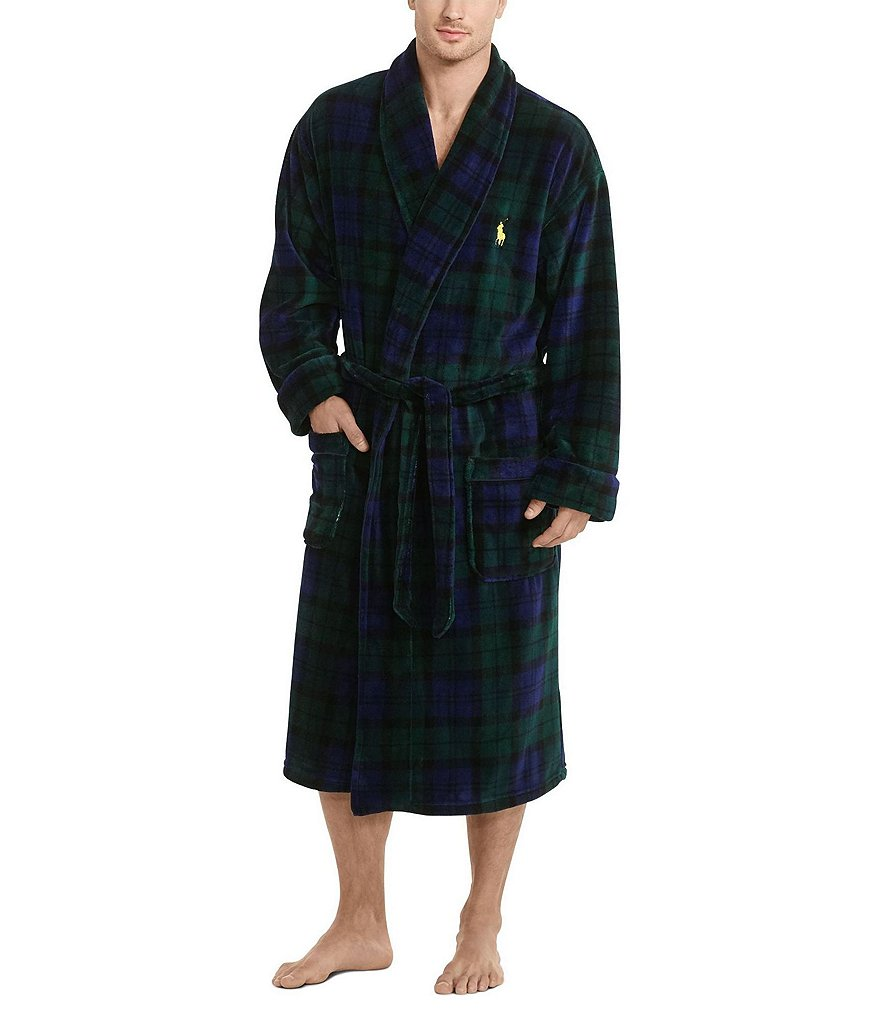 Polo Ralph Lauren Plaid Microfleece Robe