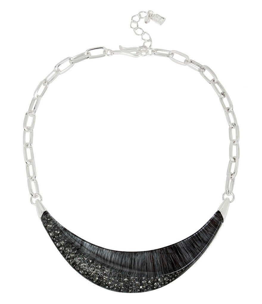 Robert Lee Morris Soho Pavé Sculptural Statement Necklace