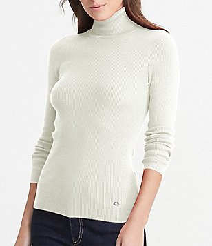 Lauren Ralph Lauren Petites Ribbed Turtleneck Sweater
