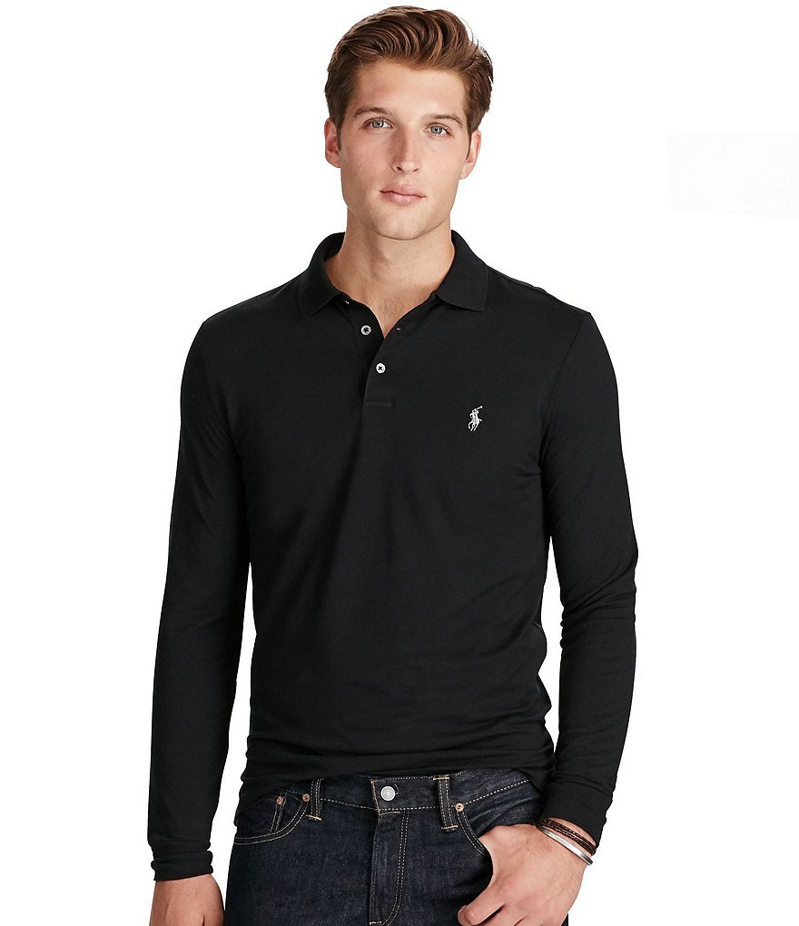 Polo Ralph Lauren Custom-Fit Pima-Blend Long-Sleeve Polo Shirt