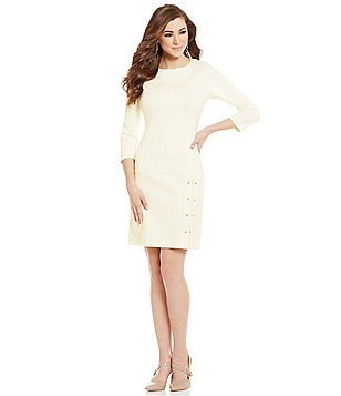 Antonio Melani Taran Crew Neck 3/4 Sleeve Ponte Dress