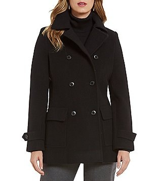 Pendleton Double-Breasted Merino Wool Peacoat