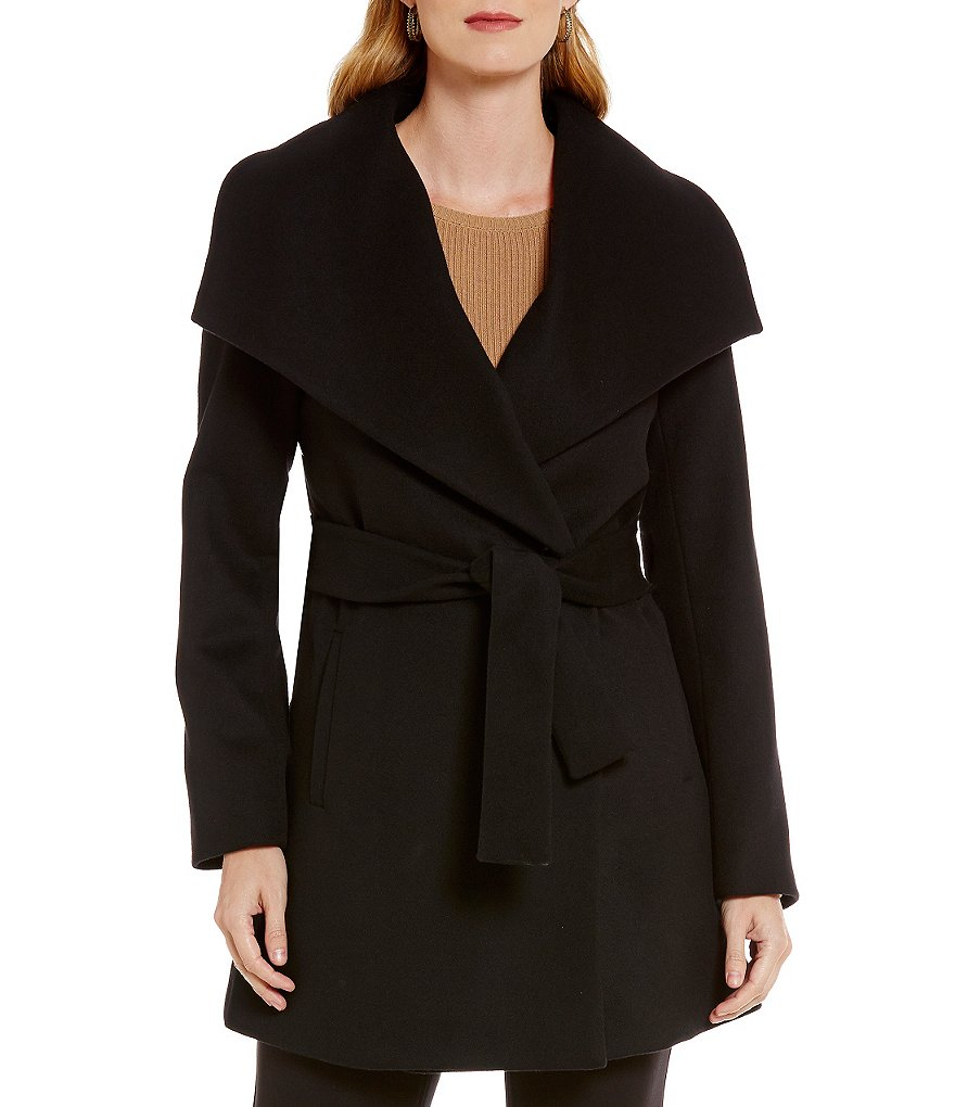 Pendleton Portrait Collar Belted Wrap Coat