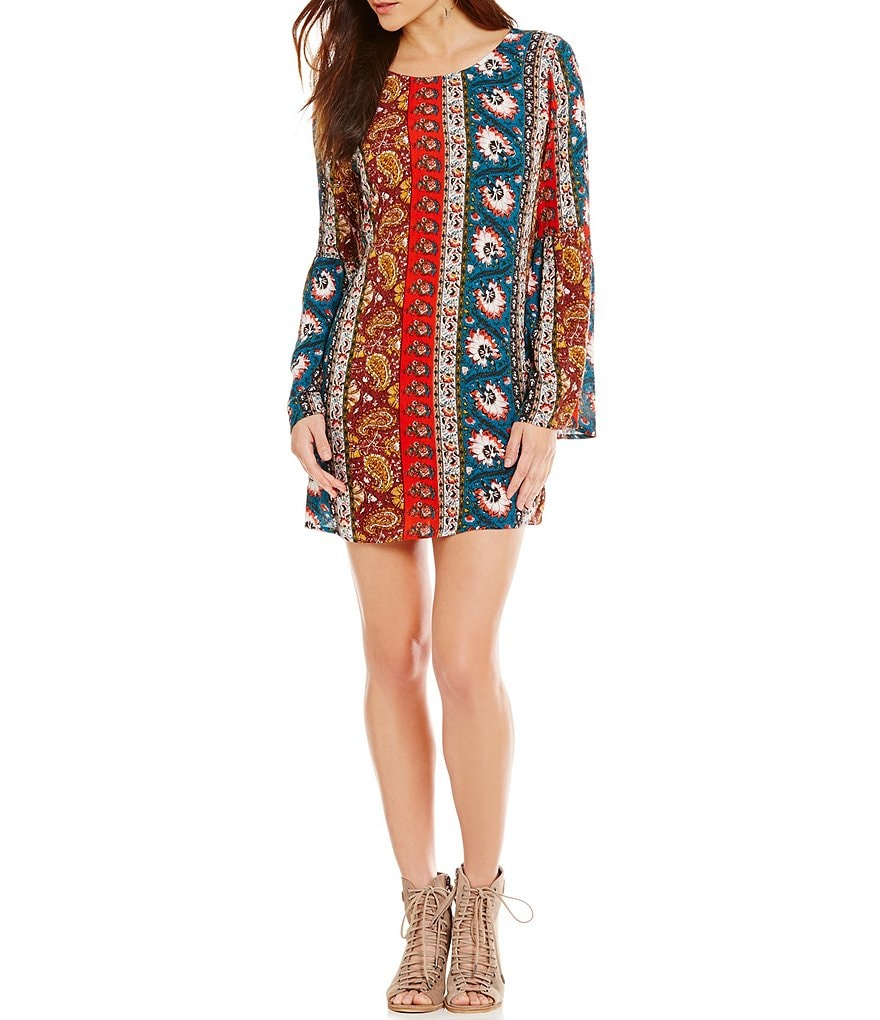 Billabong Rainy Roads Printed Shift Dress
