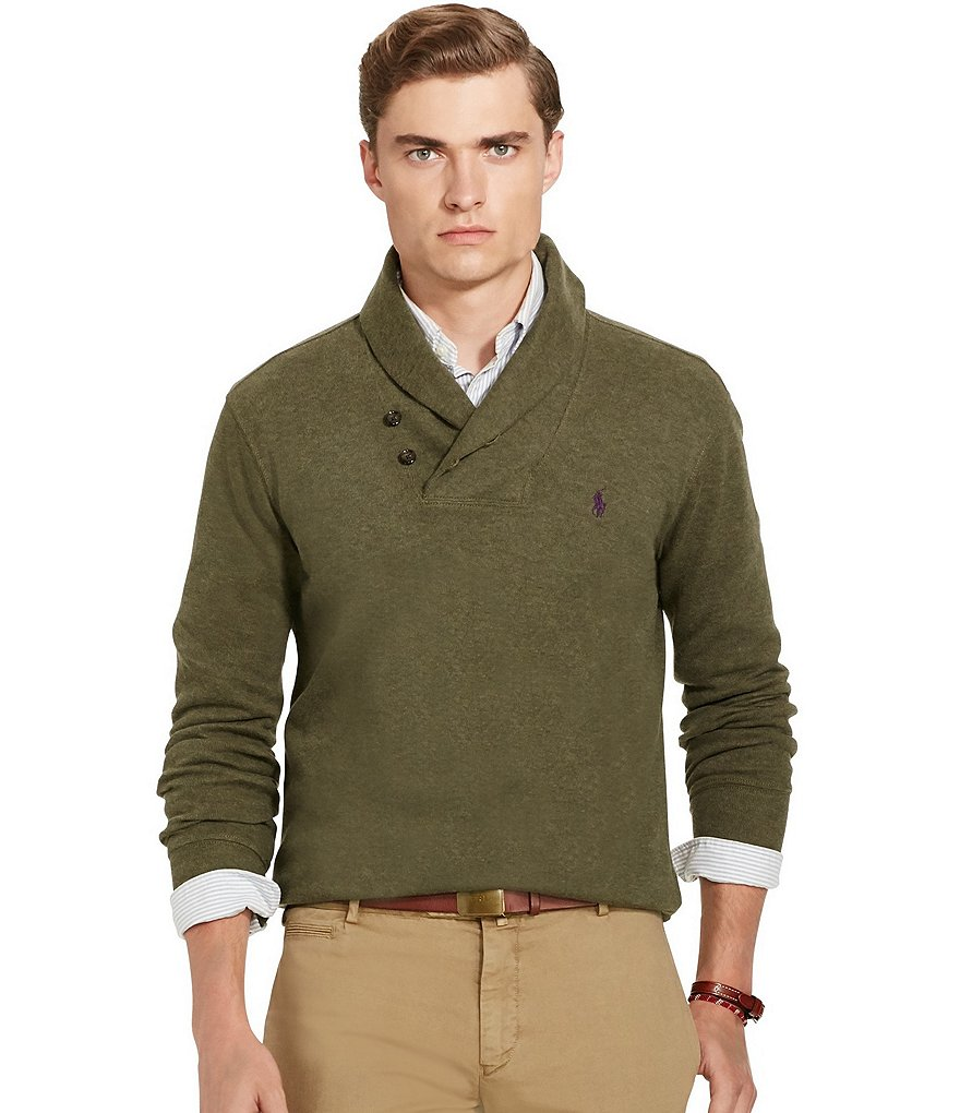 Polo Ralph Lauren Ribbed Cotton Shawl Pullover