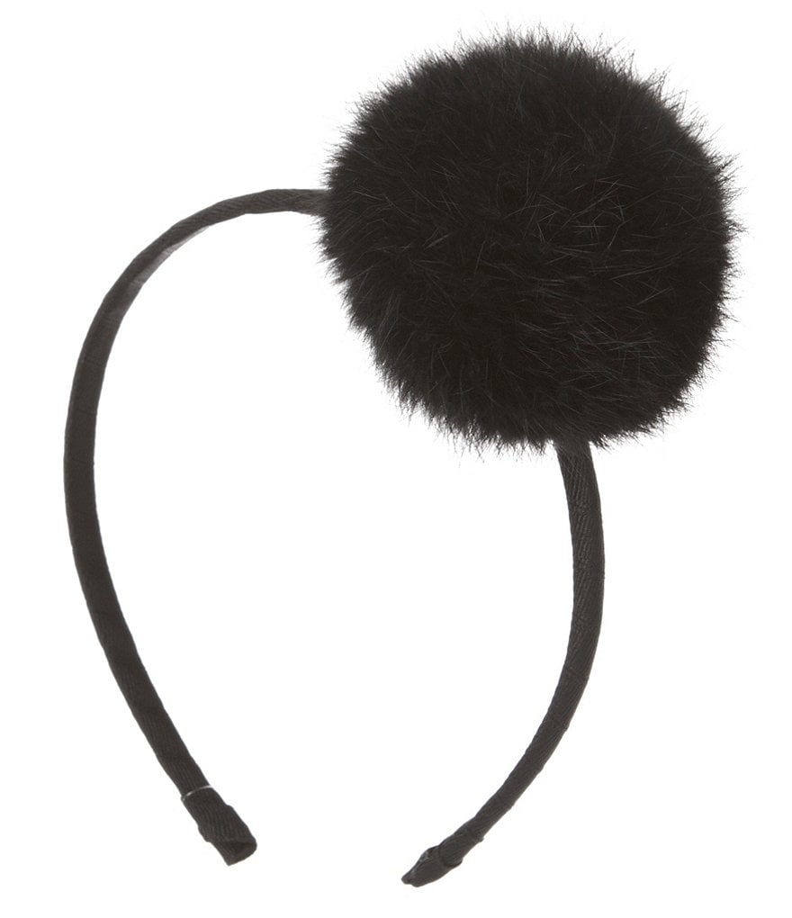 Copper Key Genuine Rabbit Fur Pom-Pom Headband