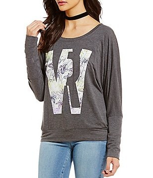 William Rast Veruca William Rast Logo Graphic Sweatshirt