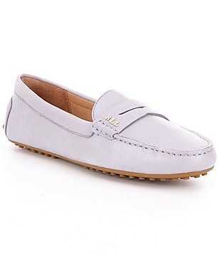 Lauren Ralph Lauren Belen Leather Slip-On Driving Moccasins