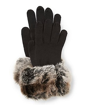 Dillard´s Faux-Fur Cuffed Gloves