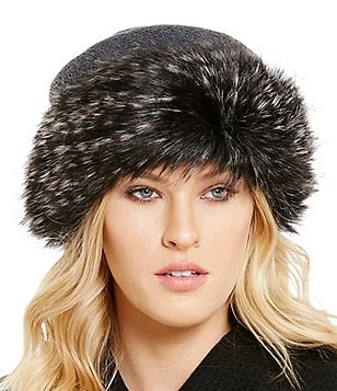 Dillard´s Faux-Fur Cuffed Hat