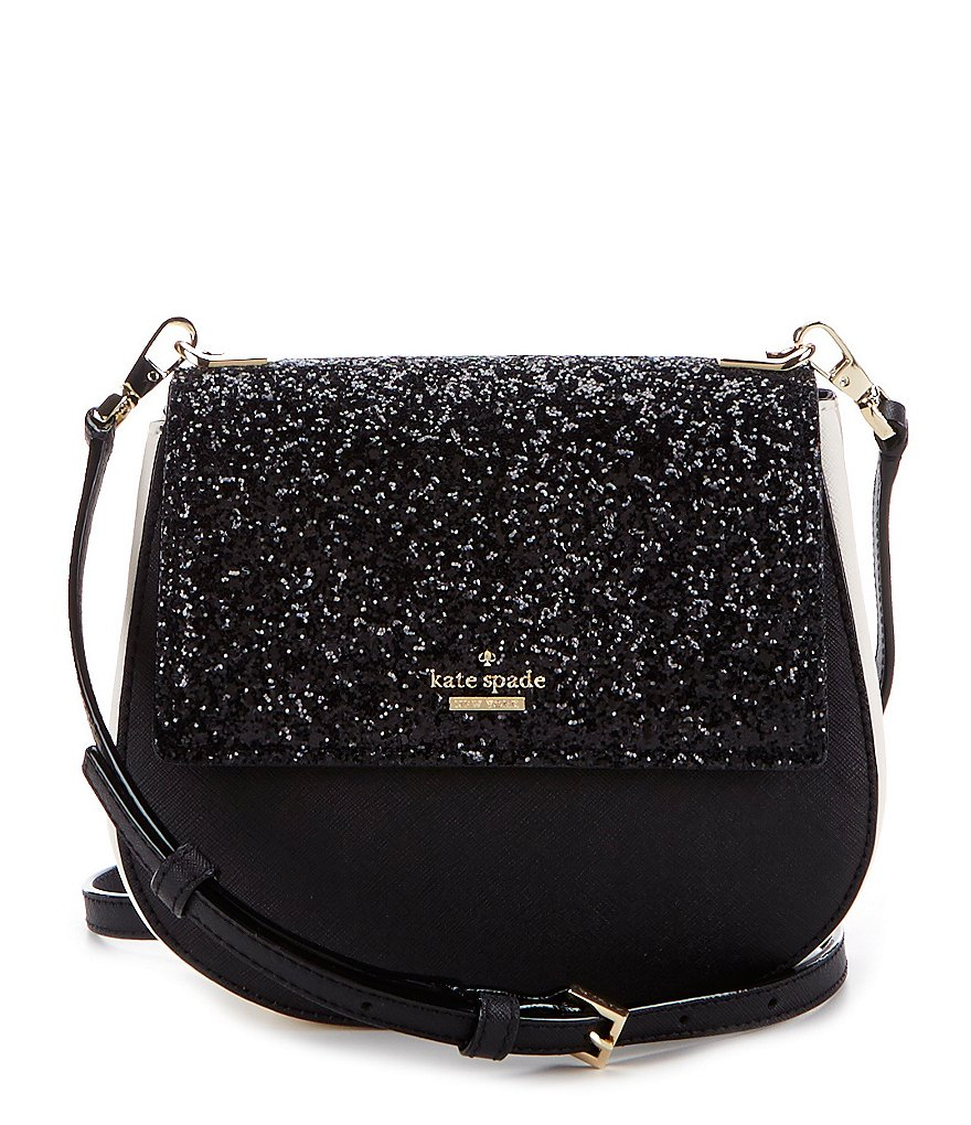 kate spade new york Cameron Street Collection Small Byrdie Glitter Cross-Body Bag