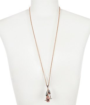 kate spade new york Champagne Cluster Pendant Necklace