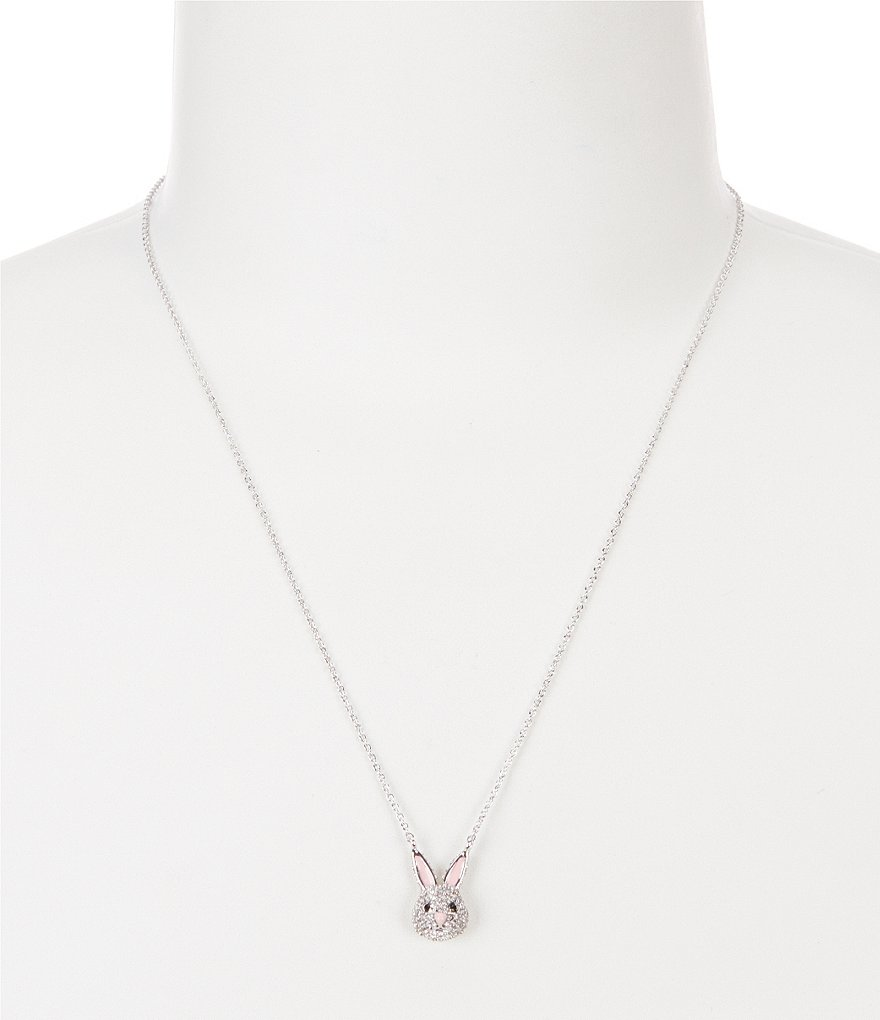 kate spade new york Make Magic Rabbit Mini Pendant Necklace