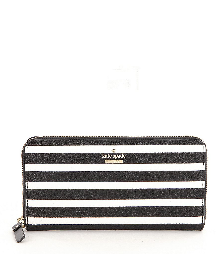 kate spade new york Hawthorne Lane Collection Lacey Striped Zip-Around Wallet