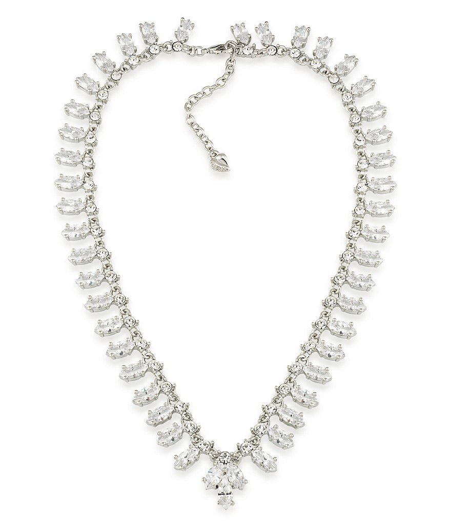 Carolee Marquee Cubic Zirconia Collar Necklace
