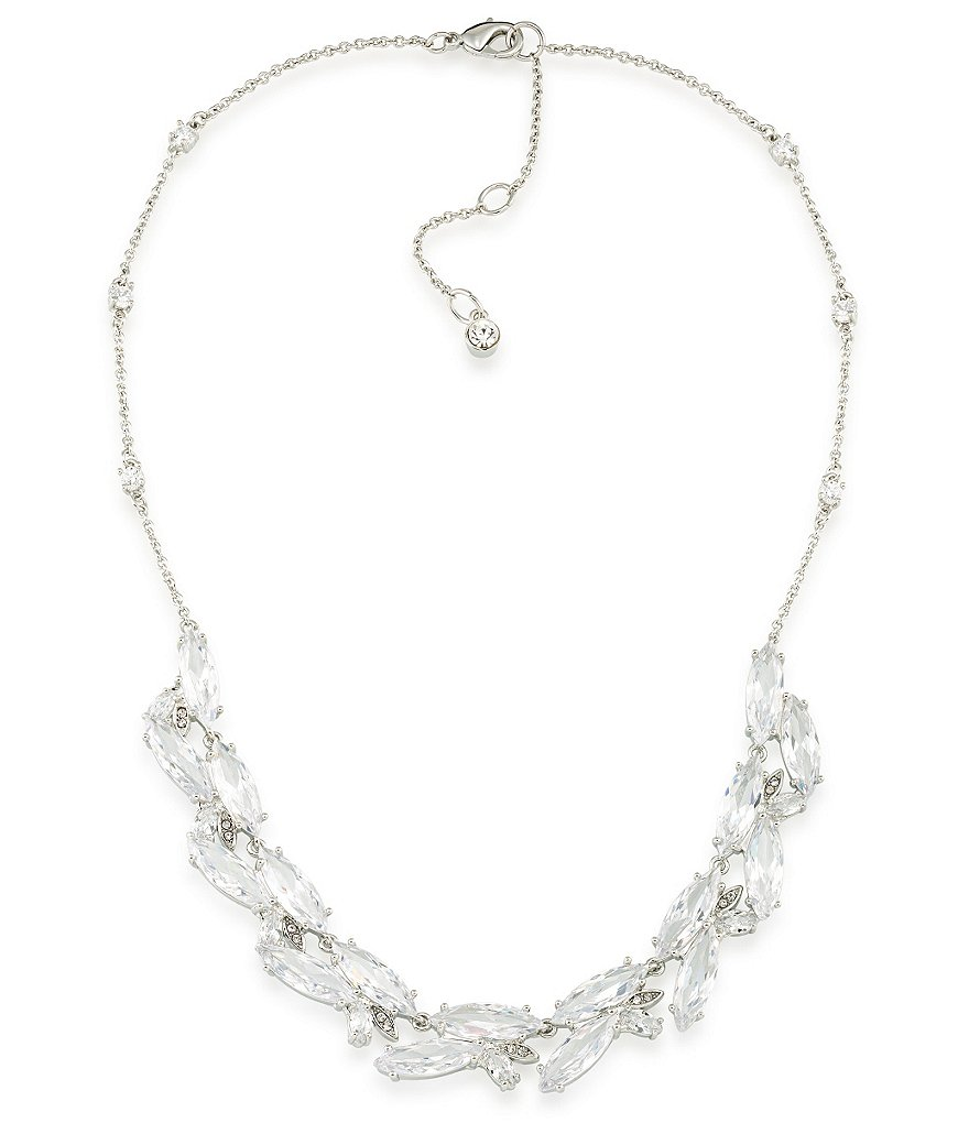 Carolee Marquee Cubic Zirconia Cluster Collar Necklace