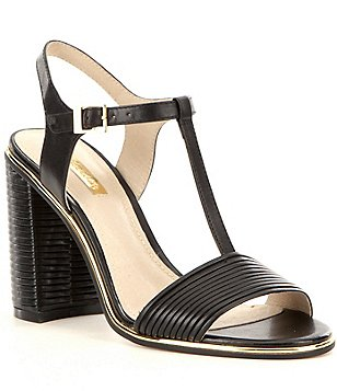 Louise Et Cie Gabbin T-Strap Block Heel Dress Sandals