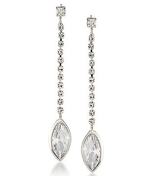 Carolee Marquee Cubic Zirconia Linear Drop Earrings