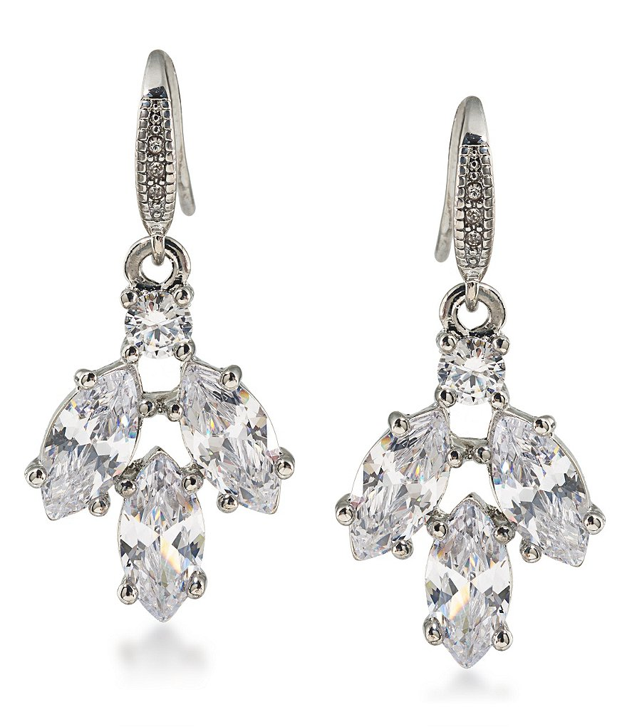 Carolee Marquee Cubic Zirconia Cluster Drop Earrings