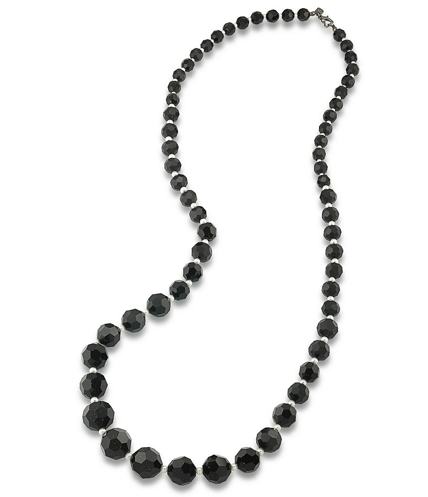 Carolee Soho House Graduated Pearl Long Strand Necklace