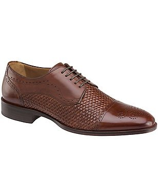 Johnston & Murphy Men´s Nolen Parma Leather Woven Cap Toe Oxford