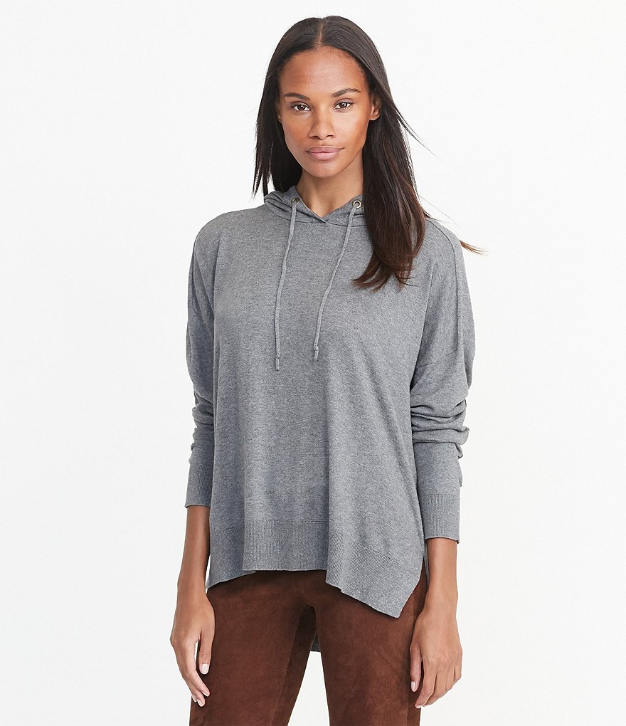 Lauren Ralph Lauren Elbow Patch Sleeve Knit Jersey Hoodie
