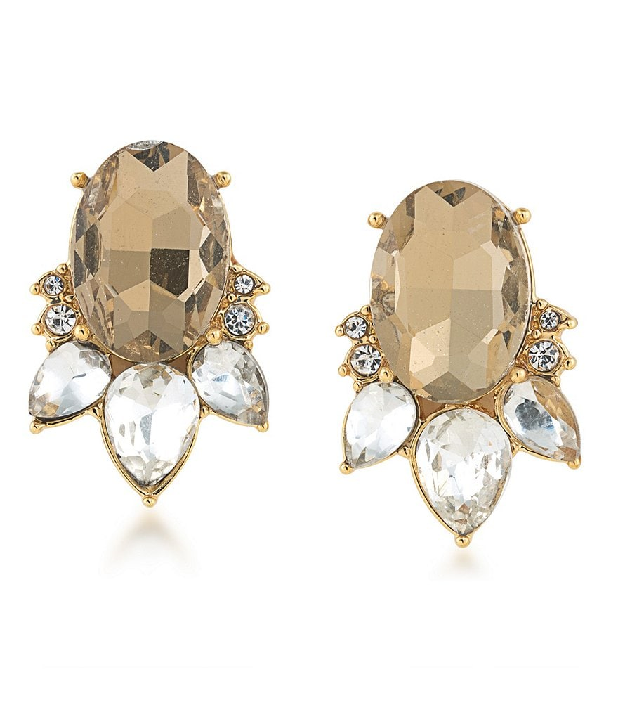 Carolee Metropolitan Club Clip-On Stud Earrings