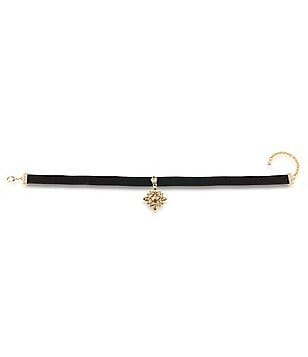 Carolee Metropolitan Club Velvet Choker Necklace