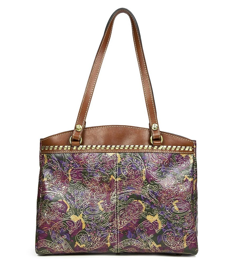 Patricia Nash Metallic Paisley Collection Poppy Top-Zip Tote
