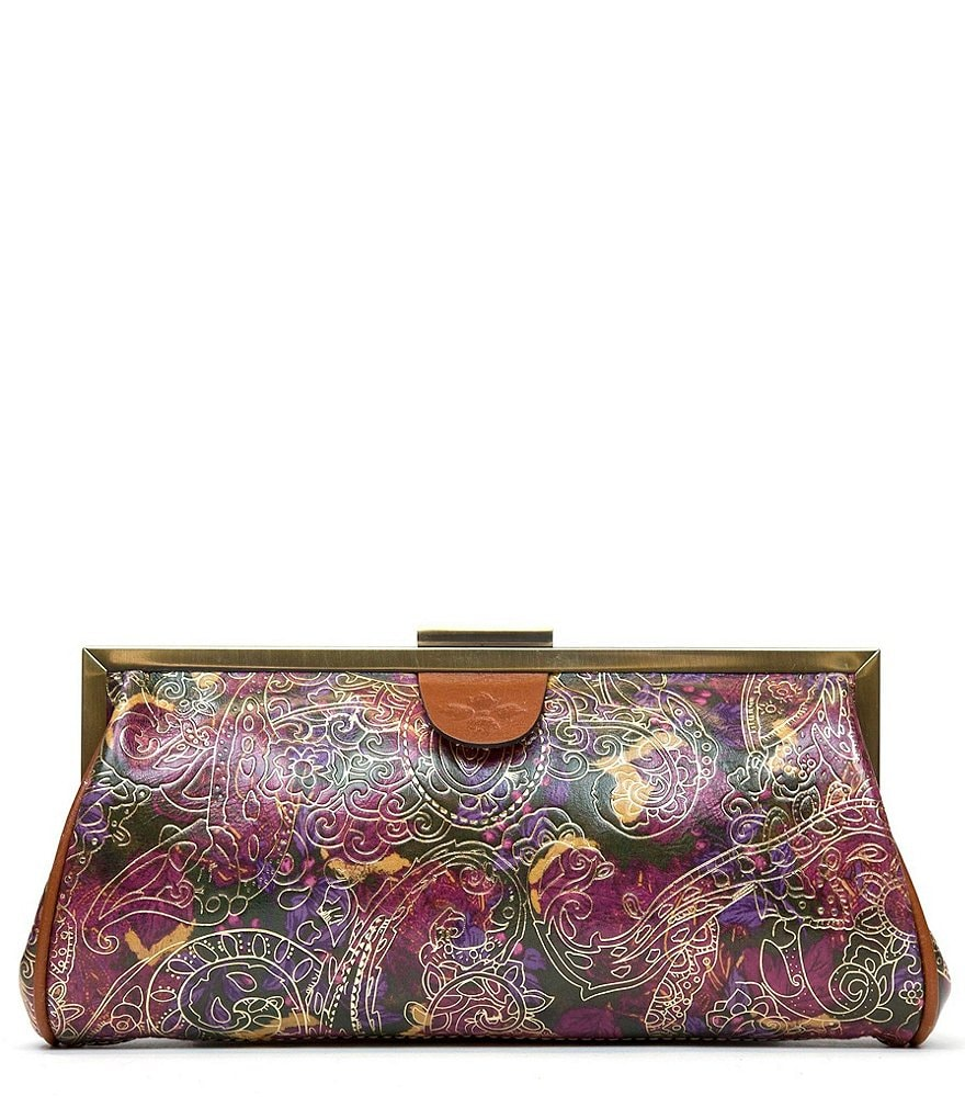 Patricia Nash Metallic Paisley Collection Athena Frame Clutch
