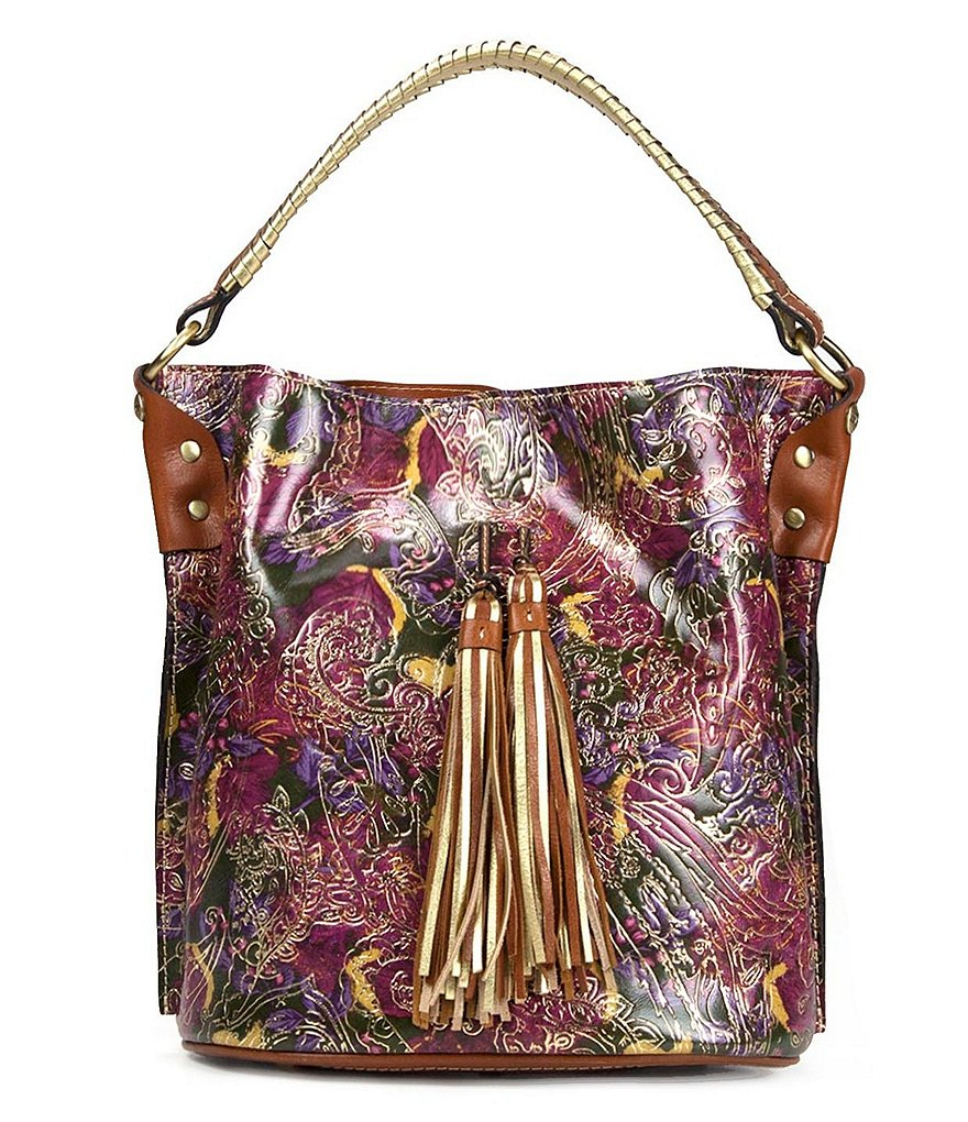 Patricia Nash Metallic Paisley Collection Otavia Bucket Bag