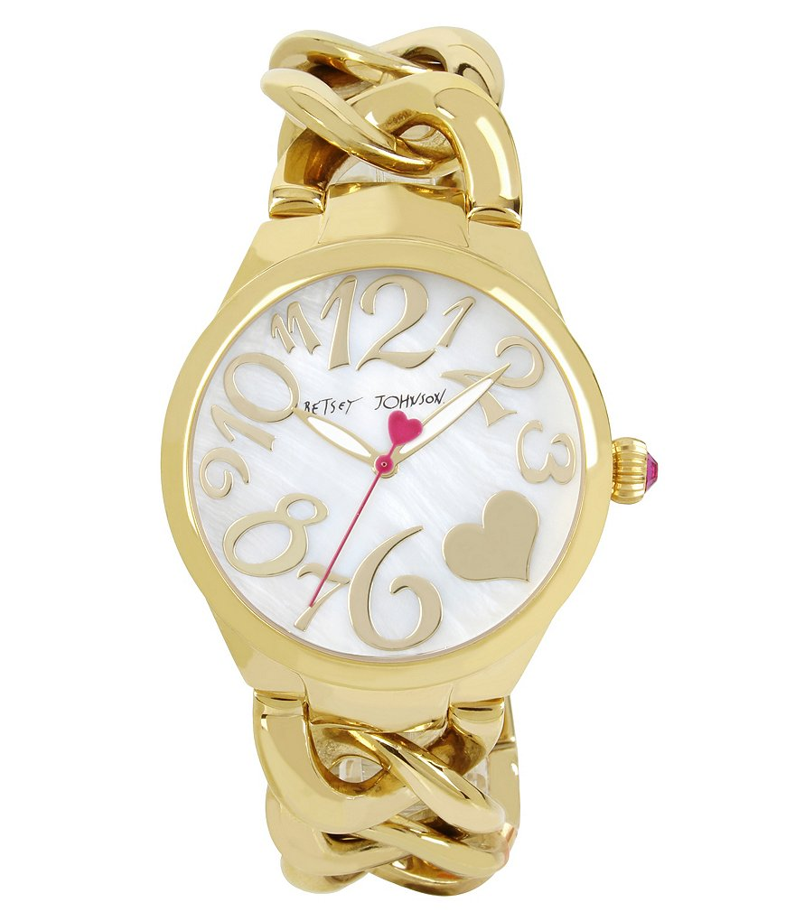 Betsey Johnson Link Bracelet Watch