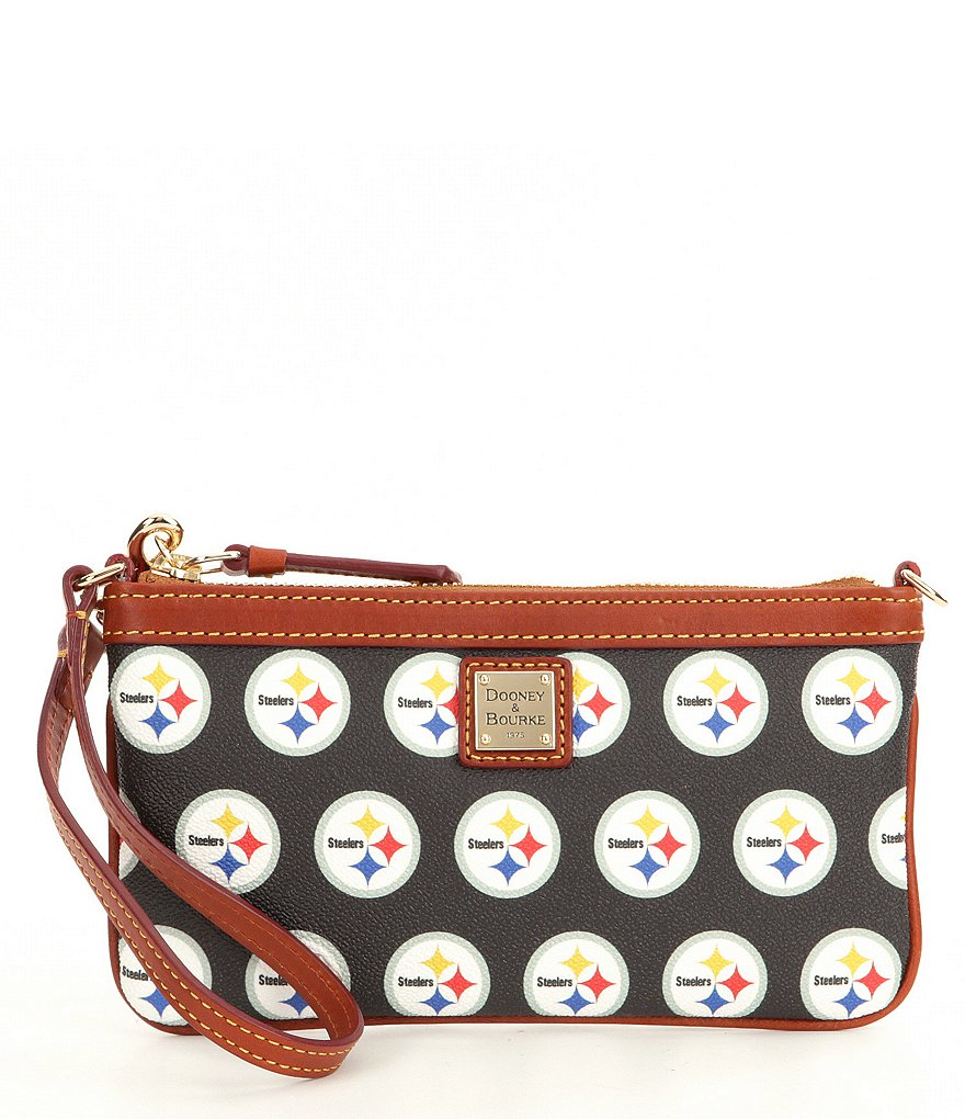 Dooney & Bourke NFL Collection Pittsburgh Steelers Large Slim Wristlet