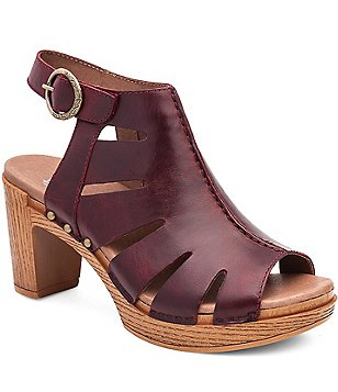 Dansko Demetra Vintage Leather Caged Slingback Buckle Sandals