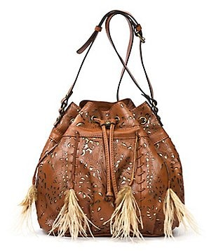 Patricia Nash Laser Lace Collection Picerno Drawstring Bucket Bag