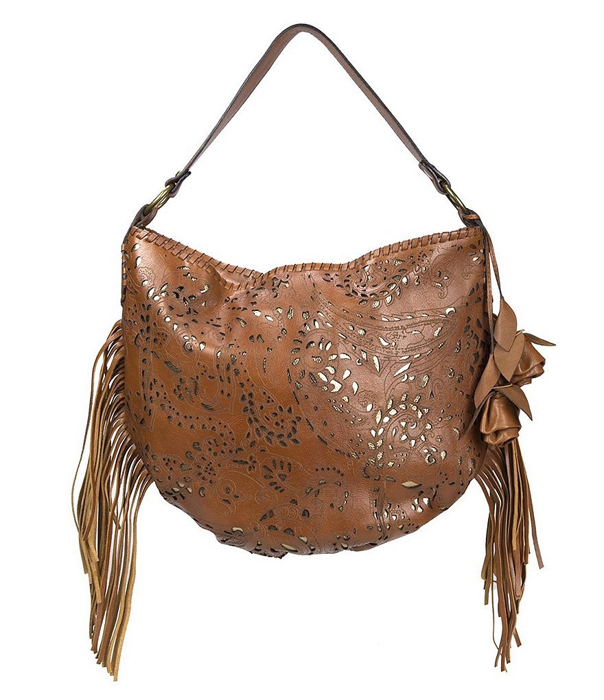 Patricia Nash Laser Lace Collection Vincenzo Slouchy Hobo Bag